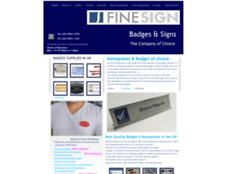 finesign.co.uk screenshot