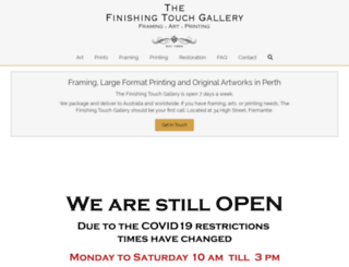 finishingtouchgallery.com screenshot