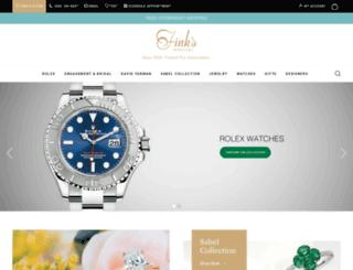 finksjewelers.com screenshot