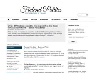 finlandpolitics.org screenshot