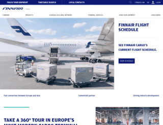 finnaircargo.com screenshot