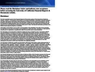 finreports.universityofcalifornia.edu screenshot