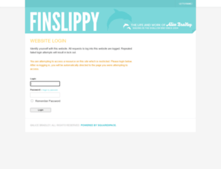 finslippy.squarespace.com screenshot