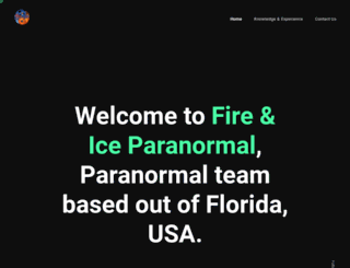 fireandiceparanormal.com screenshot
