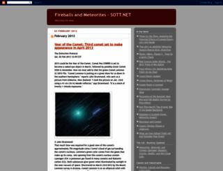fireballs-meteorites.blogspot.com screenshot