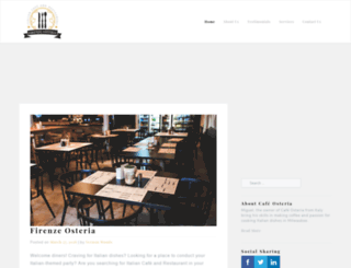 firenzeosteria.com screenshot
