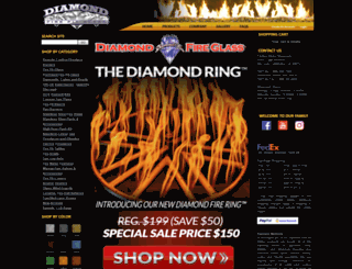 firepitglassrocks.com screenshot