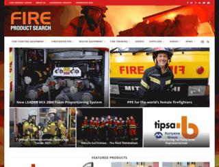 fireproductsearch.com screenshot