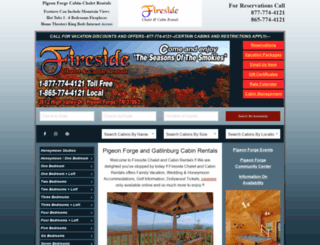 firesidechalets.com screenshot