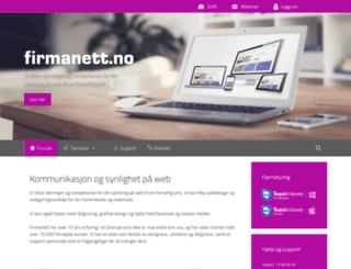 firmanett.no screenshot