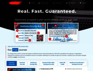 firstaidweb.com screenshot