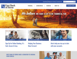 firstbankofberne.com screenshot