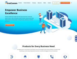 firstcomm.com screenshot