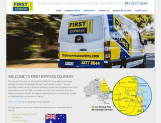 firstexpresscouriers.com screenshot