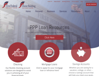 firstfedevansville.com screenshot