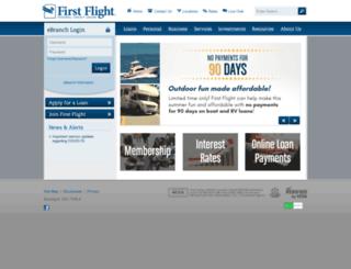 firstflightfcu.org screenshot