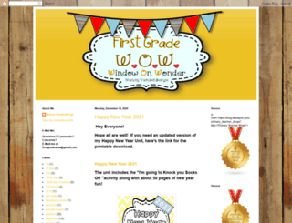 firstgradewow.blogspot.com screenshot