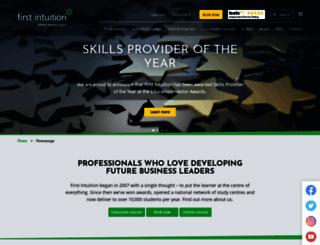 firstintuition.co.uk screenshot