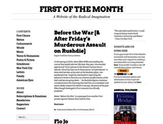 firstofthemonth.org screenshot