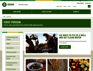 firstperson.oxfamamerica.org screenshot