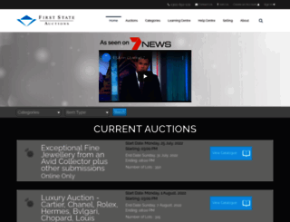 firststateauctions.com.au screenshot