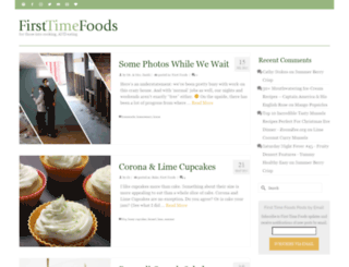 firsttimefoods.com screenshot