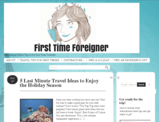 firsttimeforeigner.com screenshot
