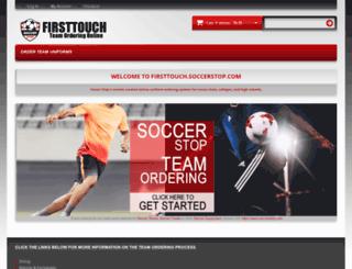 firsttouch.soccerstop.com screenshot