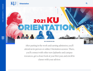 firstyear.ku.edu screenshot