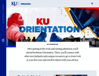 firstyear.ku.edu screenshot