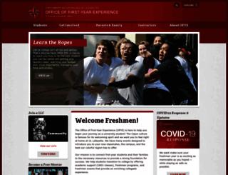 firstyear.louisiana.edu screenshot