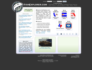 fishexplorer.com screenshot