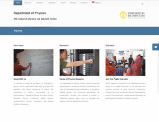 fisika.ui.ac.id screenshot