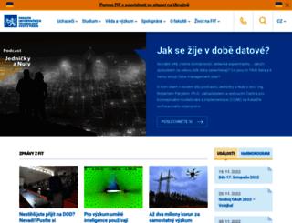 fit.cvut.cz screenshot