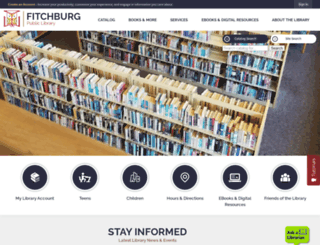 fitchburgpubliclibrary.org screenshot