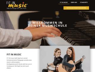 fitinmusic.de screenshot