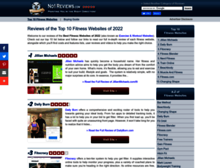 fitness-websites.no1reviews.com screenshot