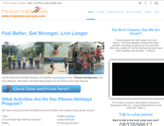 fitnessholidayasia.com screenshot