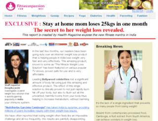 fitnessnpassion.com screenshot