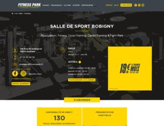 fitnesspark-bobigny.fr screenshot