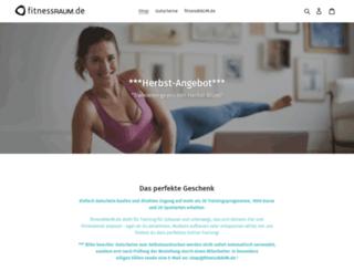 fitnessraum-shop.de screenshot