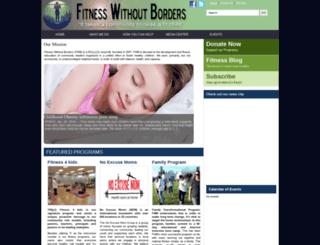 fitnesswithoutborders.org screenshot