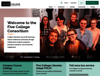 fivecolleges.edu screenshot