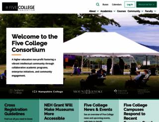 fivecolleges.edu screenshot