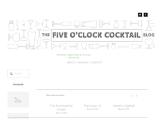 fiveoclockcocktails.com screenshot