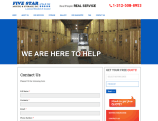 fivestarmovers.com screenshot