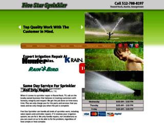 fivestarsprinkler.com screenshot