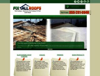 fixallroofs.com screenshot