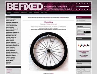 fixedgearshop.de screenshot