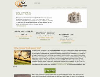 fixedsoccertips.com screenshot